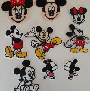 Mickey Mouse 9 patch lot new  Iron On